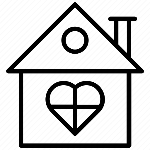 building, dream house, family house, home love, sweet home icon
