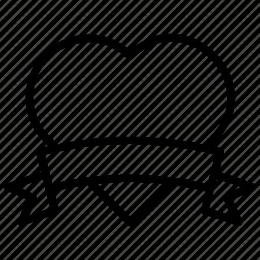 banner, heart emblem, heart insignia, heart sticker, valentine day icon