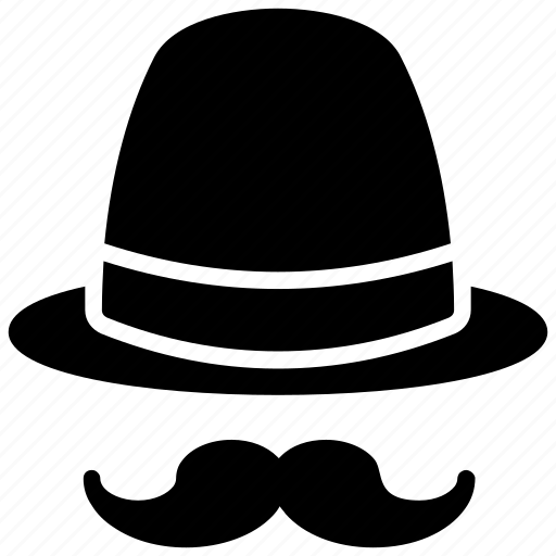 costume, hat, hipster, moustache, party props icon