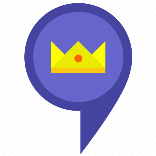 family, location, luxury, map, pointer, royal, service icon