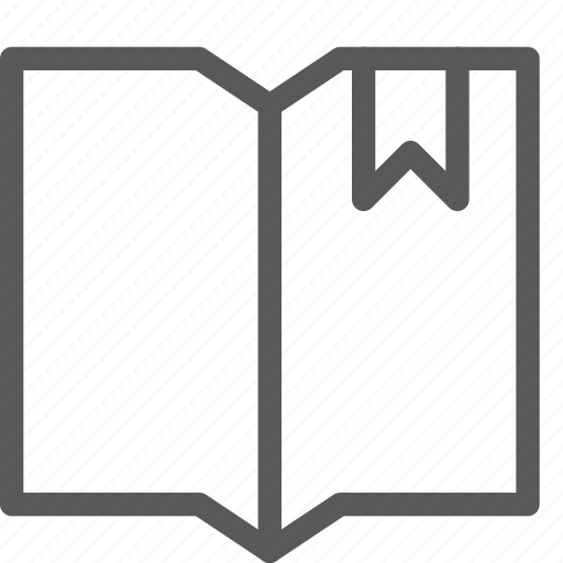 bookmark, document, editorial, favorite, open, preference, ribbon, text icon