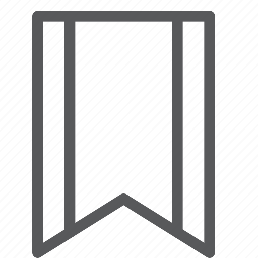 bookmark, document, editorial, favorite, preference, ribbon, text icon
