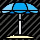 access, beach, parasol, umbrella
