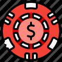 casino, chip, gambling, game