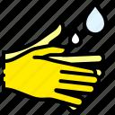 wash, hand, water, clean