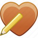 date, edit, favorite, heart, love, passion icon