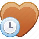 date, favorite, heart, history, love, passion icon