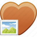 date, favorite, heart, image, love, passion icon
