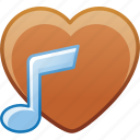 date, favorite, heart, love, music, passion icon