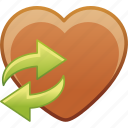 date, favorite, heart, love, passion, refresh icon