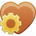 date, favorite, heart, love, passion, settings icon
