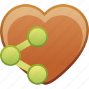 date, favorite, heart, love, passion, share icon
