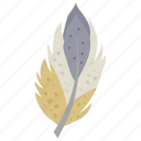 decorative feather, feather, plumage, plume, quill icon