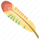 feather, plumage, plume, quill feather, semiplume feather icon