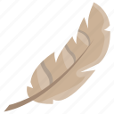 branta feather, feather, plumage, plume, quill feather icon