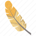 bird feather, feather, plumage, plume, quill icon