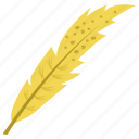 feather, long feather, plumage, plume, quill feather icon