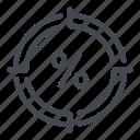 bonus, discount, fee, percent, percentage, sale, target icon