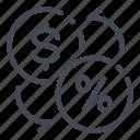 money, fee, percent, percentage, cashback, return