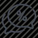 chat, message, percent, percentage