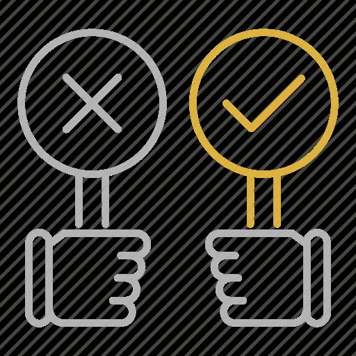 debate, feedback, rating, vote icon