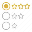 feedback, rating, stars, web icon