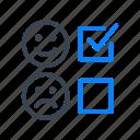 emoticon, emoji, review, feedback, rating