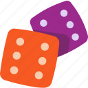 dice, gamble, game, luck, lucky icon