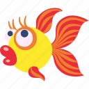 fish, goldfish, lucky, pet icon