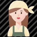 botanist, farmer, gardener, plants, woman icon