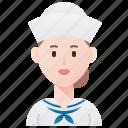 crews, navy, sailor, ship, woman icon