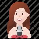 entertainment, female, music, performer, singer icon