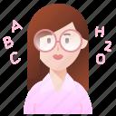 educator, lecturer, school, teacher, woman icon