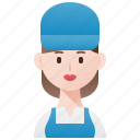 cleaner, handy, housekeeper, technician, woman icon