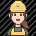 electrician, engineer, technician, woman, worker icon
