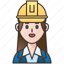 architecture, construction, engineer, professional, woman icon