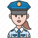 cop, enforcement, law, officer, policewoman icon