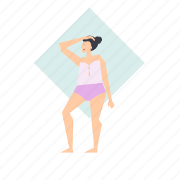 woman, bathing, suit, swimming, clothes, clothing