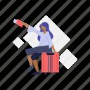 woman, travel, transportation, luggage, baggage
