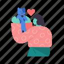 woman, female, person, pet, animal, cat, love