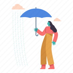 woman, female, person, umbrella, weather, forecast, protection