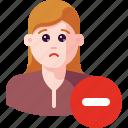 account, avatar, delete, minus, profile, remove, user