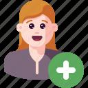 account, add, avatar, new, plus, profile, user icon