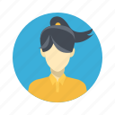 avatar, beautiful, character, female, girl, person, portrait, team member, testimonial, user, woman icon