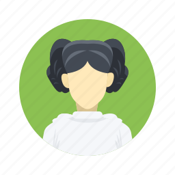 avatar, beautiful, character, female, girl, mascot, people, person, star wars, team, team member, testimonial, user, woman icon