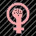fist, hand, women, resist, protest, gender, feminism