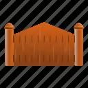 border, fence, frame, gate, house, wood