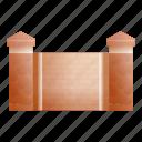 border, brick, column, fence, house, vintage