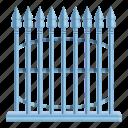 arrow, fence, frame, metal, retro