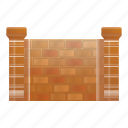 frame, brick, texture, retro, fence